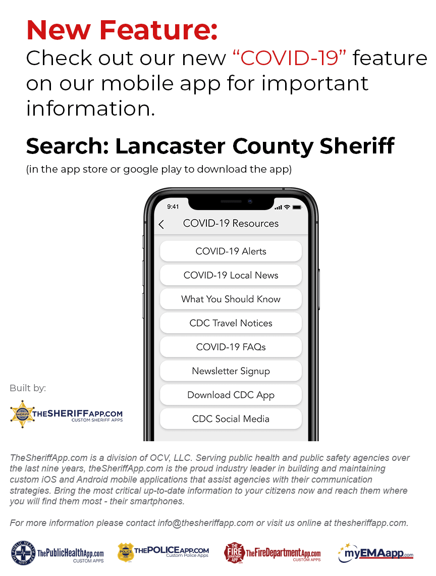 COVID-19 Feature - Lancaster County Sheriff