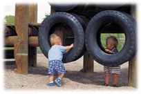 playing in tires