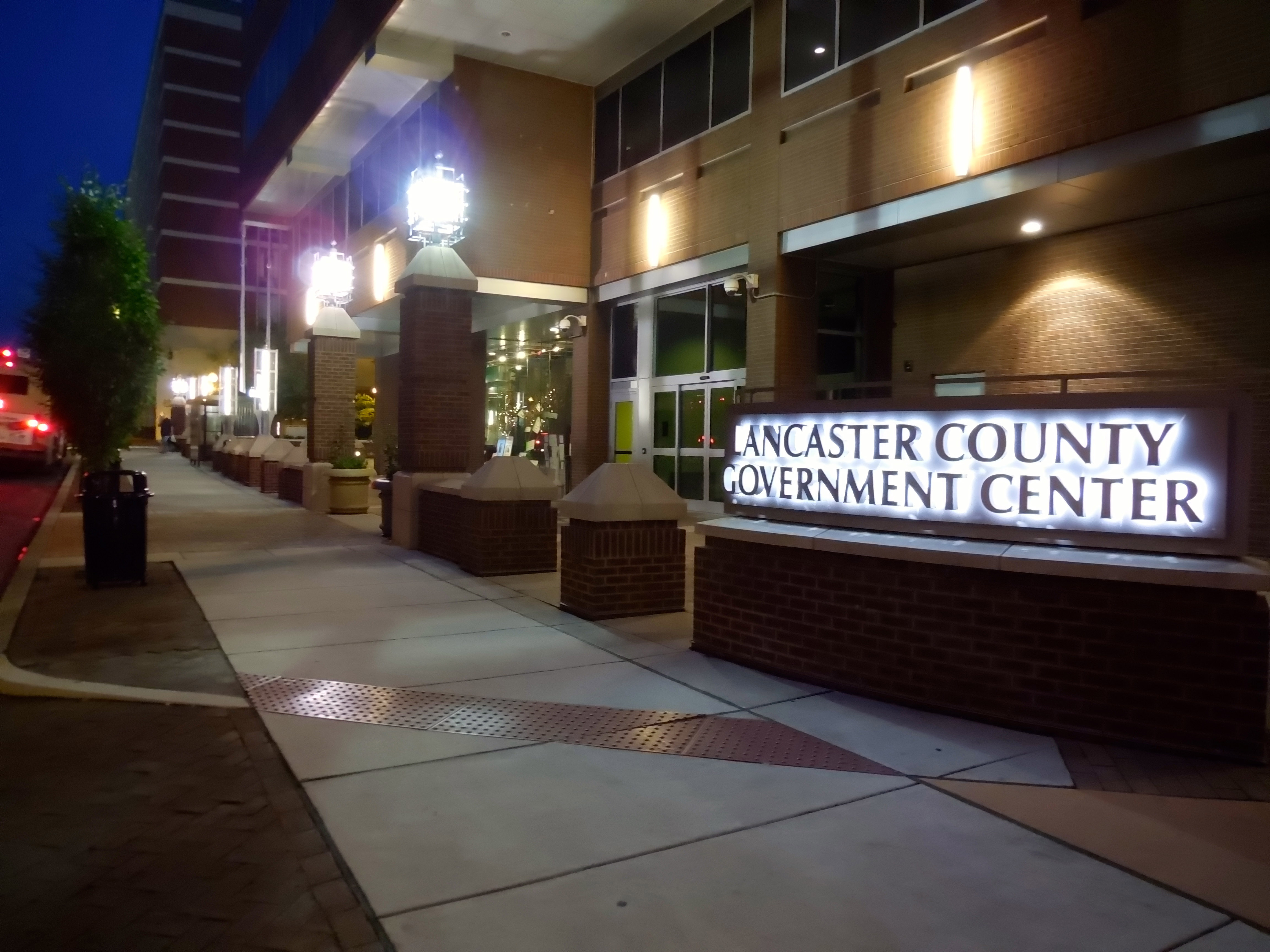 County Government Center Entrance Night